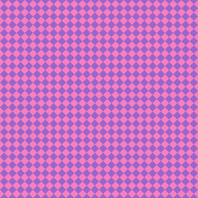45/135 degree angle diagonal checkered chequered squares checker pattern checkers background, 20 pixel square size, , Persian Pink and Amethyst checkers chequered checkered squares seamless tileable
