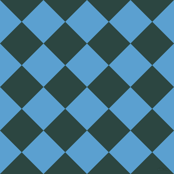 45/135 degree angle diagonal checkered chequered squares checker pattern checkers background, 102 pixel square size, , Picton Blue and Gable Green checkers chequered checkered squares seamless tileable