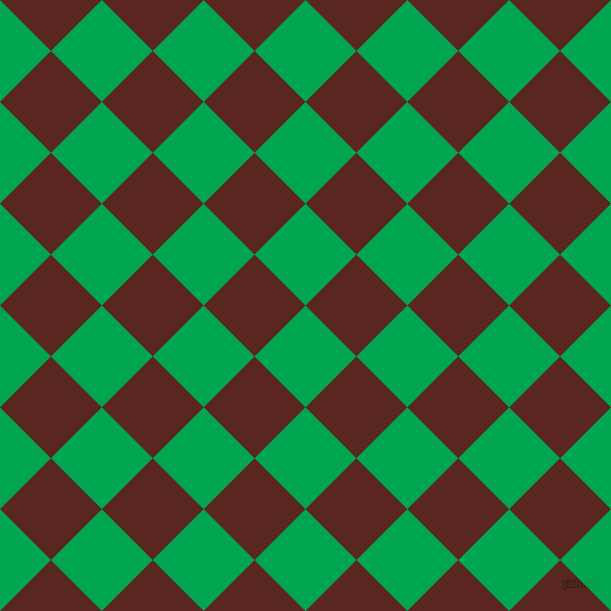 45/135 degree angle diagonal checkered chequered squares checker pattern checkers background, 72 pixel squares size, , Pigment Green and Caput Mortuum checkers chequered checkered squares seamless tileable