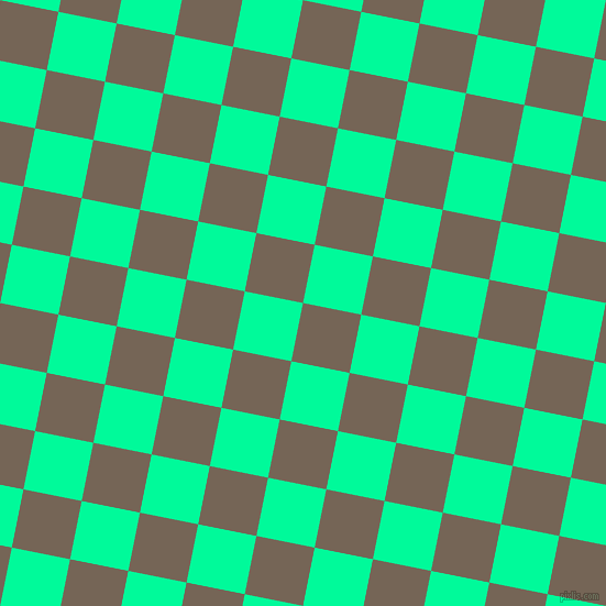 79/169 degree angle diagonal checkered chequered squares checker pattern checkers background, 54 pixel square size, , Pine Cone and Medium Spring Green checkers chequered checkered squares seamless tileable