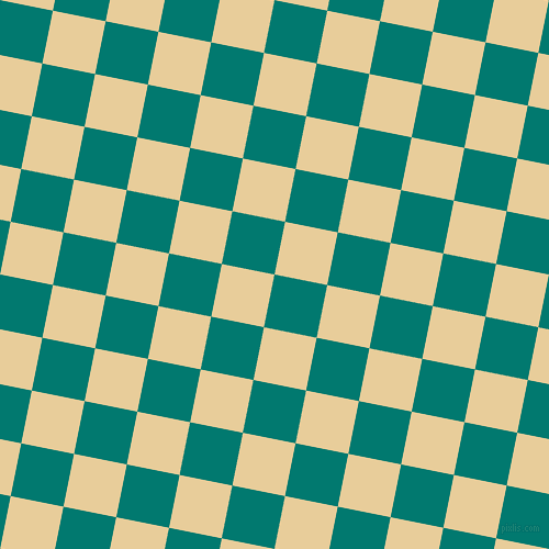 79/169 degree angle diagonal checkered chequered squares checker pattern checkers background, 49 pixel square size, , Pine Green and Chamois checkers chequered checkered squares seamless tileable