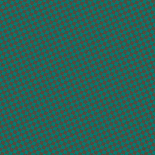 68/158 degree angle diagonal checkered chequered squares checker pattern checkers background, 12 pixel square size, , Pine Green and Metallic Bronze checkers chequered checkered squares seamless tileable
