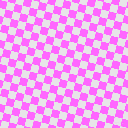 76/166 degree angle diagonal checkered chequered squares checker pattern checkers background, 26 pixel square size, , Pink Flamingo and White Lilac checkers chequered checkered squares seamless tileable