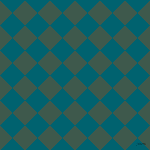 45/135 degree angle diagonal checkered chequered squares checker pattern checkers background, 62 pixel squares size, , Plantation and Blue Lagoon checkers chequered checkered squares seamless tileable