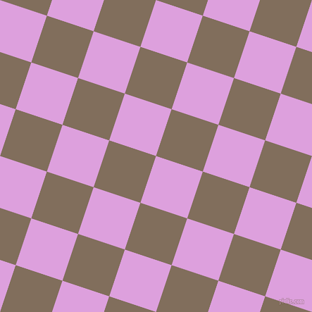 72/162 degree angle diagonal checkered chequered squares checker pattern checkers background, 70 pixel squares size, , Plum and Donkey Brown checkers chequered checkered squares seamless tileable