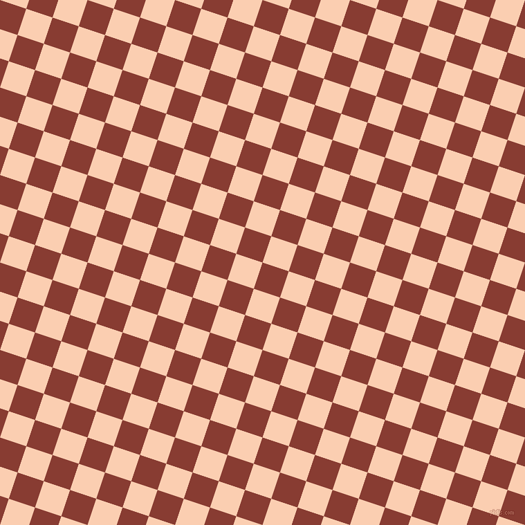 72/162 degree angle diagonal checkered chequered squares checker pattern checkers background, 40 pixel squares size, , Prairie Sand and Apricot checkers chequered checkered squares seamless tileable
