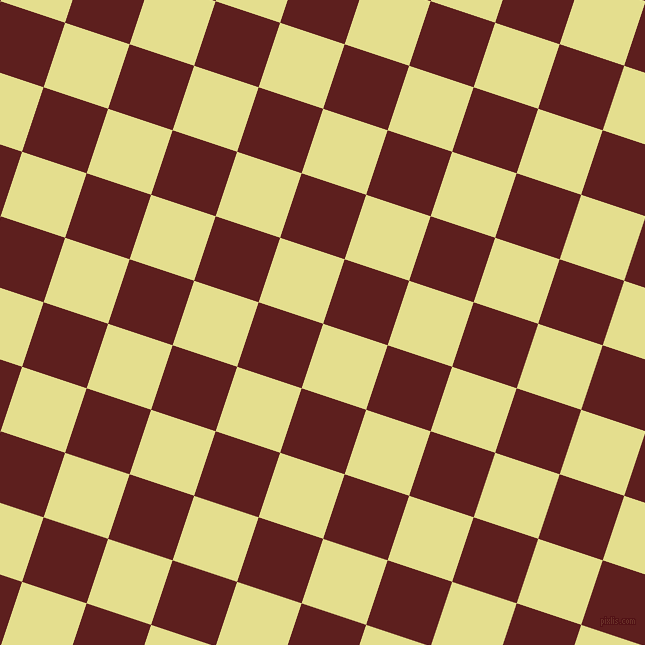 72/162 degree angle diagonal checkered chequered squares checker pattern checkers background, 68 pixel squares size, , Primrose and Red Oxide checkers chequered checkered squares seamless tileable