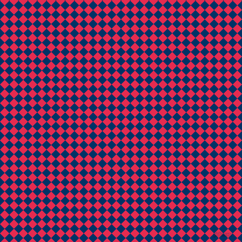 45/135 degree angle diagonal checkered chequered squares checker pattern checkers background, 13 pixel squares size, , Prussian Blue and Amaranth checkers chequered checkered squares seamless tileable