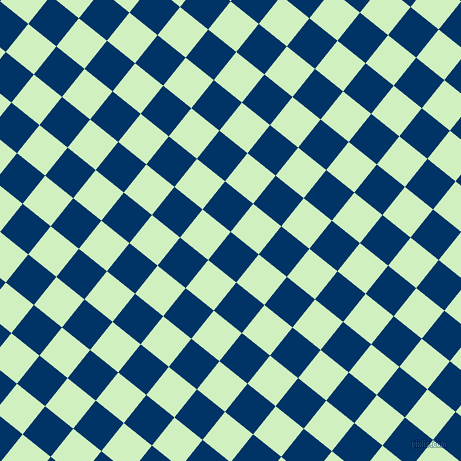 51/141 degree angle diagonal checkered chequered squares checker pattern checkers background, 36 pixel square size, , Prussian Blue and Tea Green checkers chequered checkered squares seamless tileable
