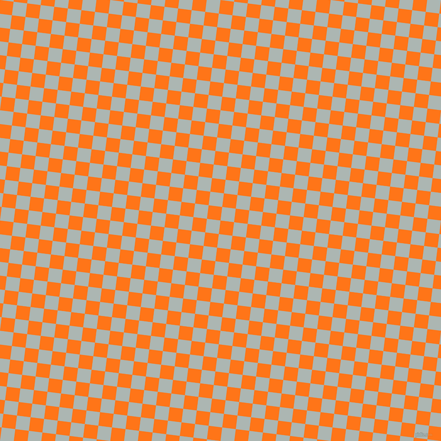 83/173 degree angle diagonal checkered chequered squares checker pattern checkers background, 28 pixel squares size, , Pumpkin and Periglacial Blue checkers chequered checkered squares seamless tileable