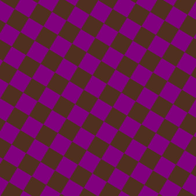 59/149 degree angle diagonal checkered chequered squares checker pattern checkers background, 58 pixel squares size, , Purple and Indian Tan checkers chequered checkered squares seamless tileable