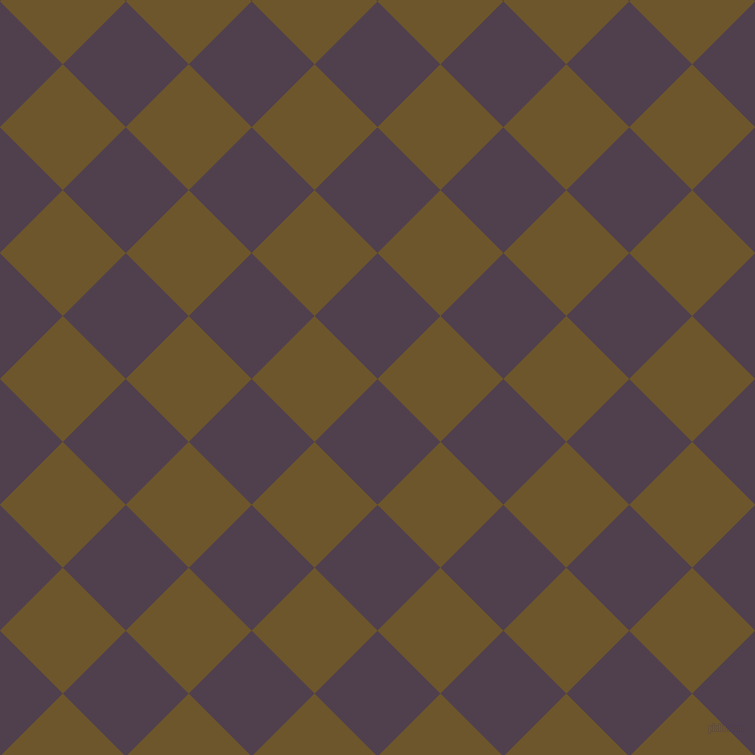 45/135 degree angle diagonal checkered chequered squares checker pattern checkers background, 89 pixel squares size, , Purple Taupe and Horses Neck checkers chequered checkered squares seamless tileable