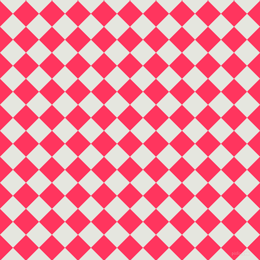 45/135 degree angle diagonal checkered chequered squares checker pattern checkers background, 36 pixel square size, , Radical Red and Black Squeeze checkers chequered checkered squares seamless tileable