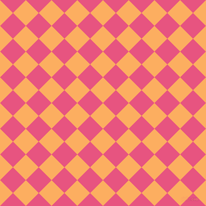 45/135 degree angle diagonal checkered chequered squares checker pattern checkers background, 37 pixel squares size, , Rajah and Dark Pink checkers chequered checkered squares seamless tileable