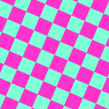 67/157 degree angle diagonal checkered chequered squares checker pattern checkers background, 59 pixel squares size, , Razzle Dazzle Rose and Aquamarine checkers chequered checkered squares seamless tileable