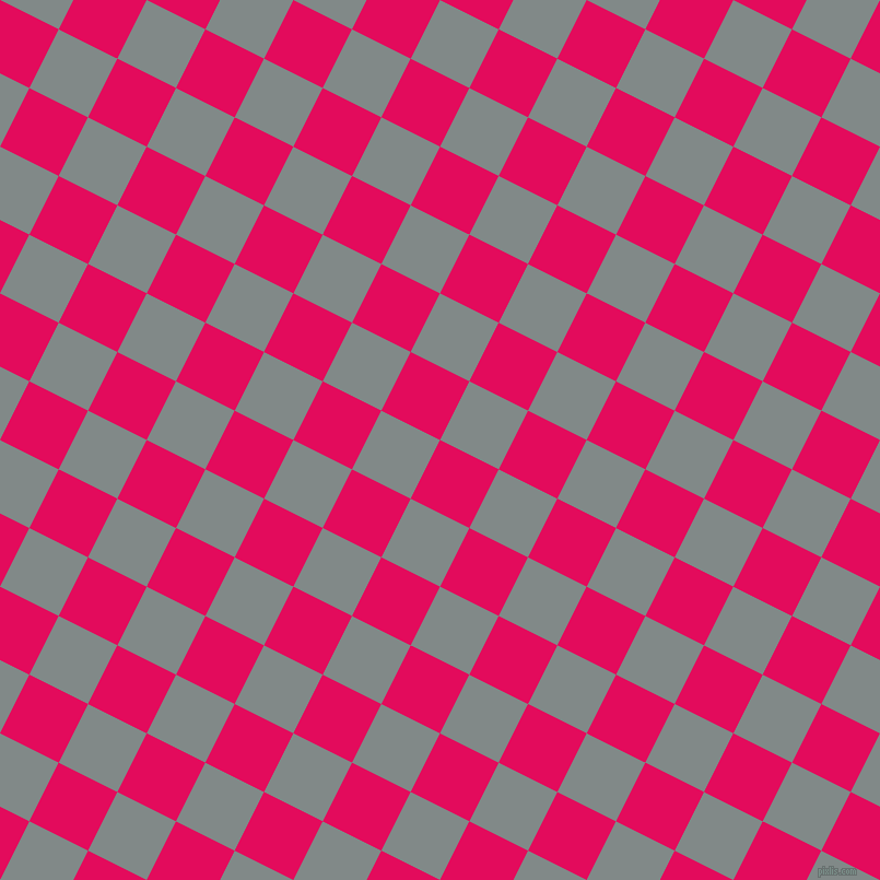63/153 degree angle diagonal checkered chequered squares checker pattern checkers background, 60 pixel squares size, , Razzmatazz and Oslo Grey checkers chequered checkered squares seamless tileable