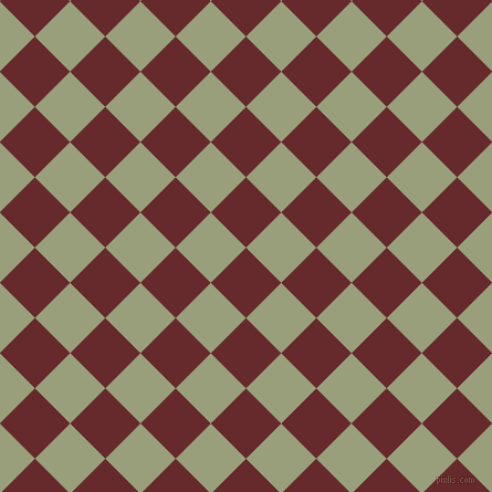 45/135 degree angle diagonal checkered chequered squares checker pattern checkers background, 45 pixel squares size, , Red Devil and Sage checkers chequered checkered squares seamless tileable