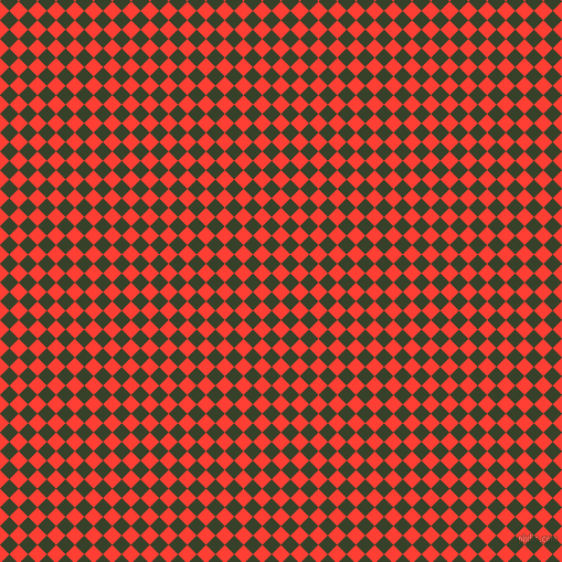 45/135 degree angle diagonal checkered chequered squares checker pattern checkers background, 12 pixel square size, , Red Orange and Seaweed checkers chequered checkered squares seamless tileable