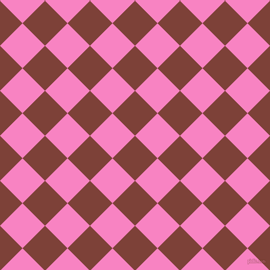 45/135 degree angle diagonal checkered chequered squares checker pattern checkers background, 62 pixel squares size, , Red Robin and Tea Rose checkers chequered checkered squares seamless tileable