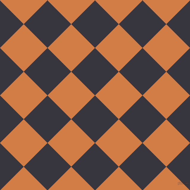 45/135 degree angle diagonal checkered chequered squares checker pattern checkers background, 113 pixel square size, , Revolver and Raw Sienna checkers chequered checkered squares seamless tileable