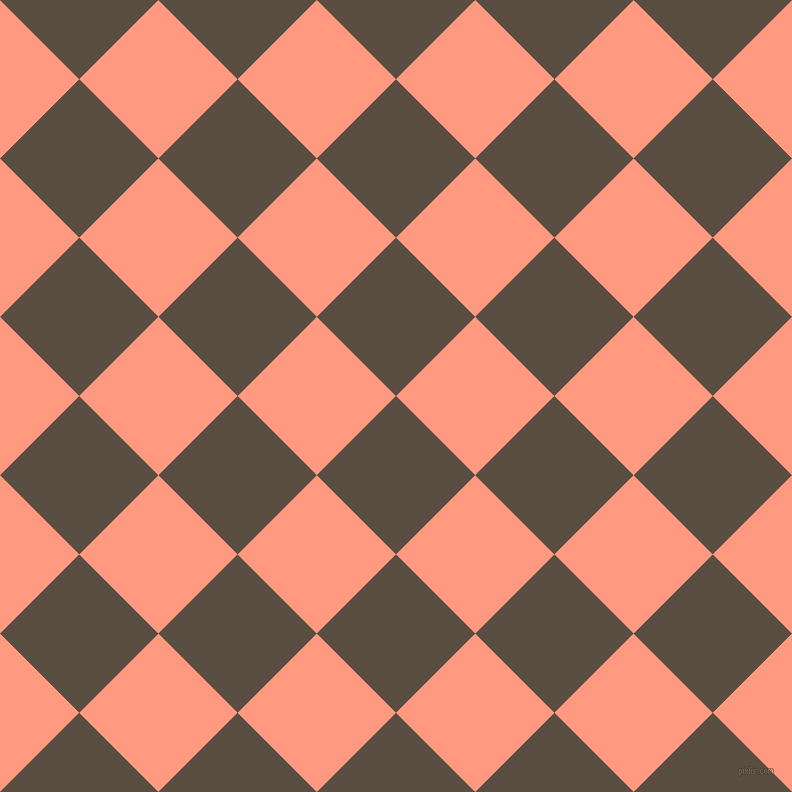 45/135 degree angle diagonal checkered chequered squares checker pattern checkers background, 112 pixel square size, , Rock and Vivid Tangerine checkers chequered checkered squares seamless tileable