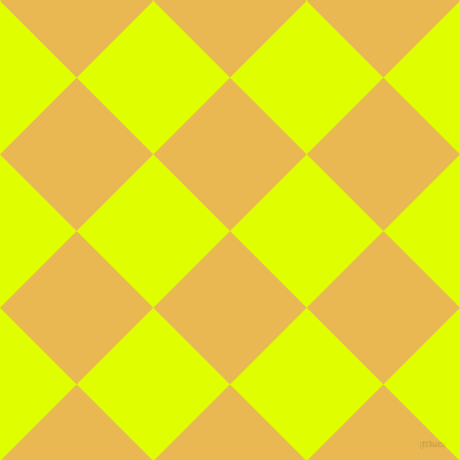45/135 degree angle diagonal checkered chequered squares checker pattern checkers background, 153 pixel squares size, , Ronchi and Chartreuse Yellow checkers chequered checkered squares seamless tileable