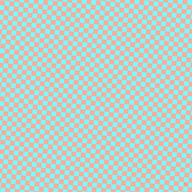84/174 degree angle diagonal checkered chequered squares checker pattern checkers background, 16 pixel square size, , Rose Bud and Electric Blue checkers chequered checkered squares seamless tileable