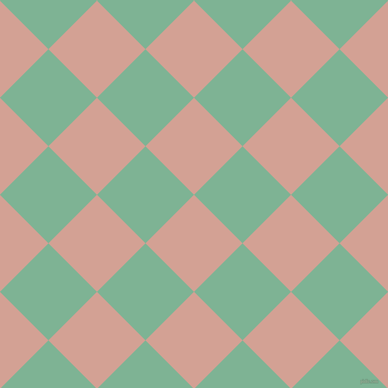 45/135 degree angle diagonal checkered chequered squares checker pattern checkers background, 136 pixel squares size, , Rose and Padua checkers chequered checkered squares seamless tileable