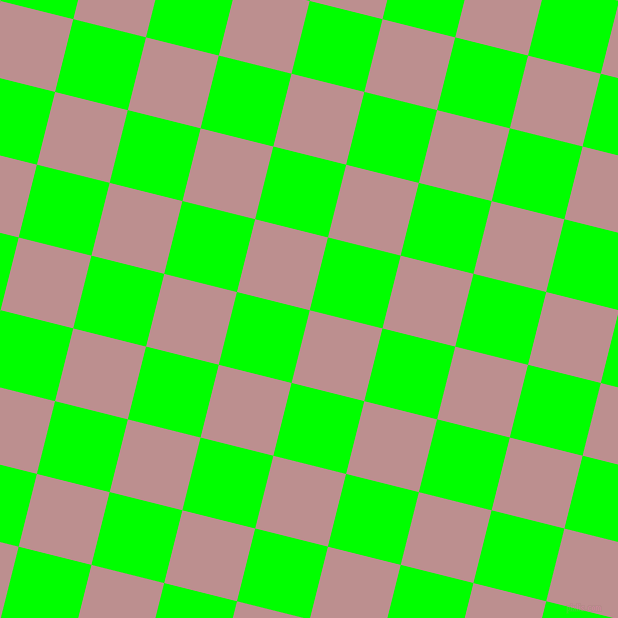 76/166 degree angle diagonal checkered chequered squares checker pattern checkers background, 75 pixel square size, , Rosy Brown and Lime checkers chequered checkered squares seamless tileable
