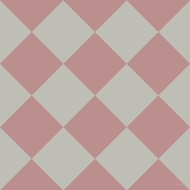 45/135 degree angle diagonal checkered chequered squares checker pattern checkers background, 154 pixel squares size, , Rosy Brown and Silver Sand checkers chequered checkered squares seamless tileable