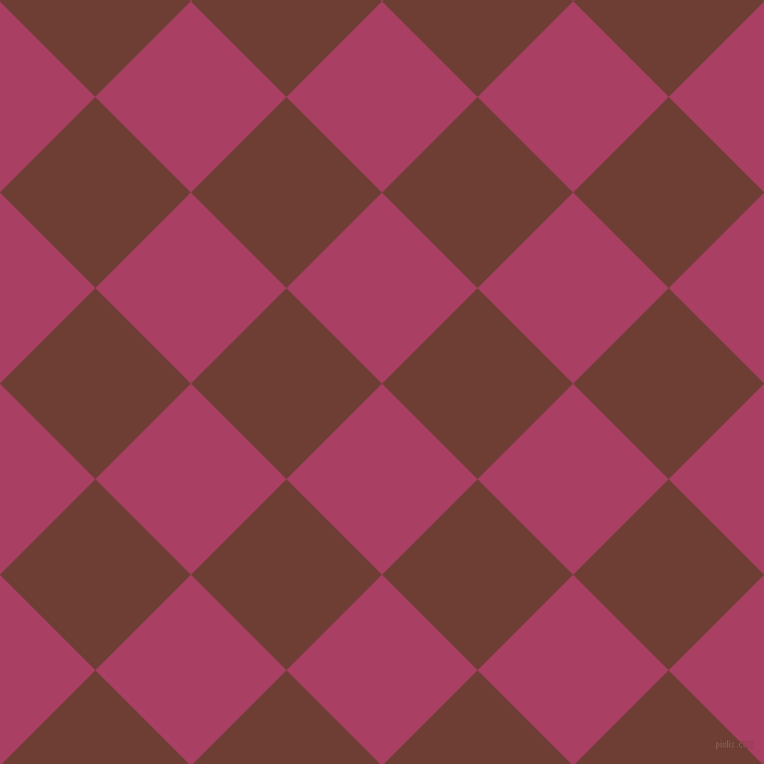 45/135 degree angle diagonal checkered chequered squares checker pattern checkers background, 124 pixel squares size, , Rouge and Metallic Copper checkers chequered checkered squares seamless tileable