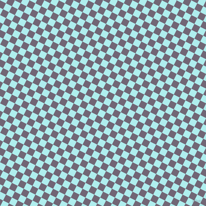 63/153 degree angle diagonal checkered chequered squares checker pattern checkers background, 23 pixel square size, , Rum and Pale Turquoise checkers chequered checkered squares seamless tileable