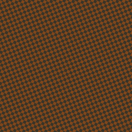 67/157 degree angle diagonal checkered chequered squares checker pattern checkers background, 10 pixel squares size, , Russet and Graphite checkers chequered checkered squares seamless tileable