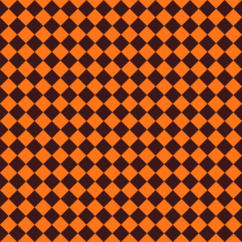 45/135 degree angle diagonal checkered chequered squares checker pattern checkers background, 25 pixel square size, , Rustic Red and Pumpkin checkers chequered checkered squares seamless tileable