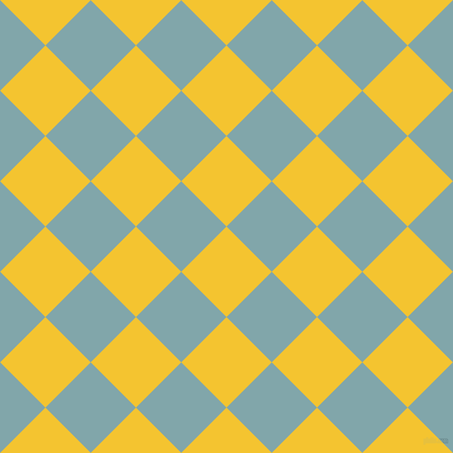 45/135 degree angle diagonal checkered chequered squares checker pattern checkers background, 93 pixel squares size, , Saffron and Ziggurat checkers chequered checkered squares seamless tileable