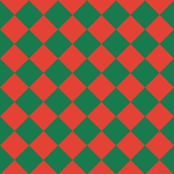 45/135 degree angle diagonal checkered chequered squares checker pattern checkers background, 66 pixel squares size, , Salem and Cinnabar checkers chequered checkered squares seamless tileable
