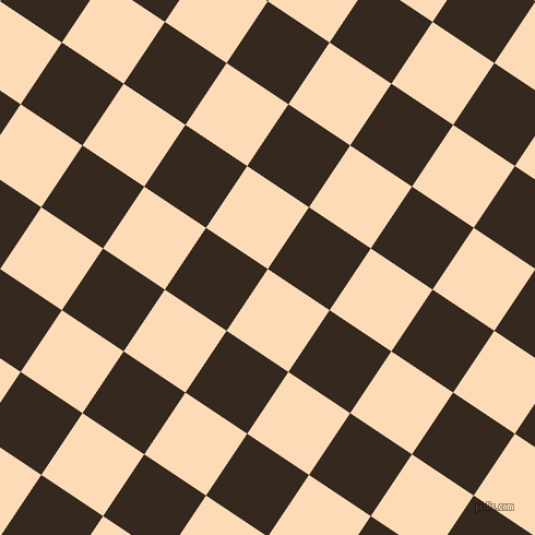 56/146 degree angle diagonal checkered chequered squares checker pattern checkers background, 68 pixel squares size, , Sandy Beach and Cocoa Brown checkers chequered checkered squares seamless tileable