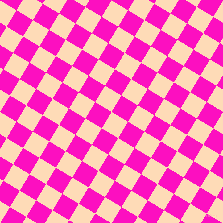 59/149 degree angle diagonal checkered chequered squares checker pattern checkers background, 62 pixel squares size, , Sandy Beach and Shocking Pink checkers chequered checkered squares seamless tileable