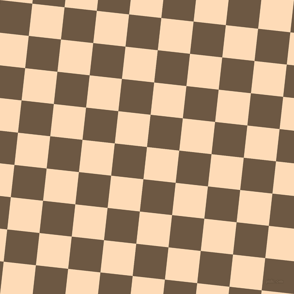 84/174 degree angle diagonal checkered chequered squares checker pattern checkers background, 67 pixel squares size, , Sandy Beach and Tobacco Brown checkers chequered checkered squares seamless tileable