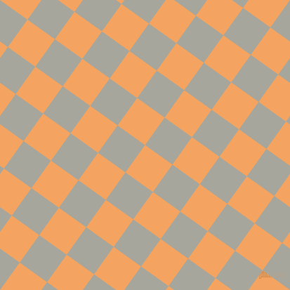 54/144 degree angle diagonal checkered chequered squares checker pattern checkers background, 48 pixel square size, , Sandy Brown and Foggy Grey checkers chequered checkered squares seamless tileable