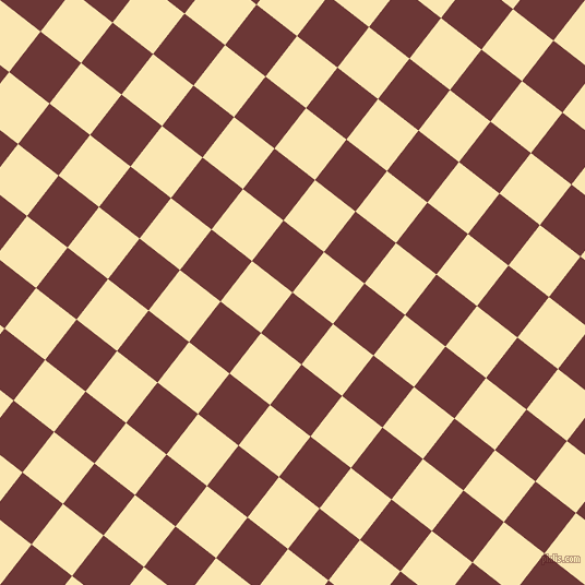 52/142 degree angle diagonal checkered chequered squares checker pattern checkers background, 47 pixel square size, , Sanguine Brown and Banana Mania checkers chequered checkered squares seamless tileable