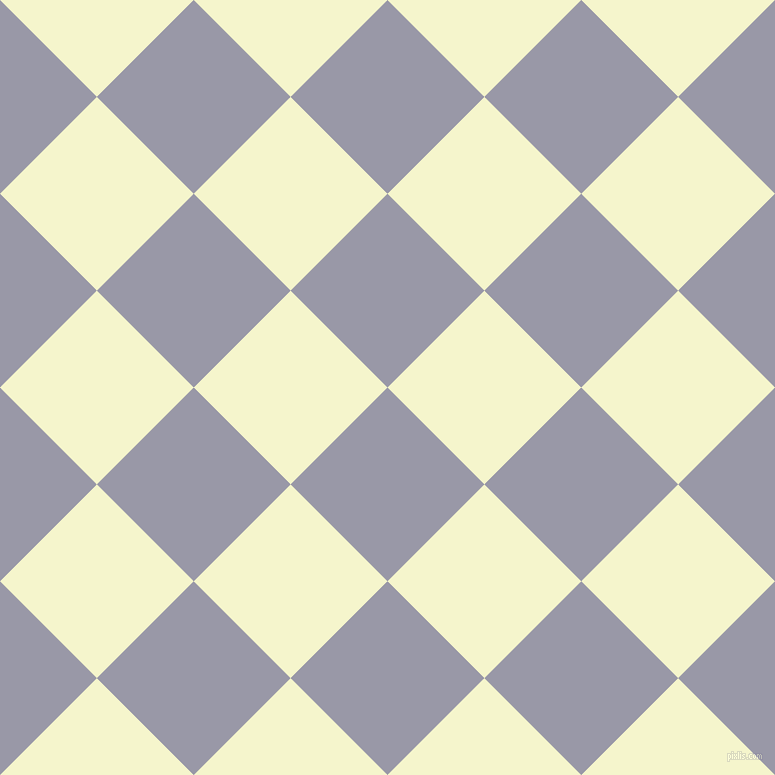 45/135 degree angle diagonal checkered chequered squares checker pattern checkers background, 137 pixel squares size, Santas Grey and Mimosa checkers chequered checkered squares seamless tileable