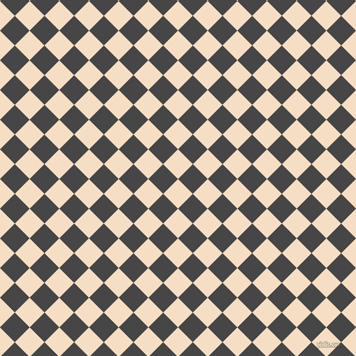 45/135 degree angle diagonal checkered chequered squares checker pattern checkers background, 30 pixel squares size, , Sazerac and Charcoal checkers chequered checkered squares seamless tileable