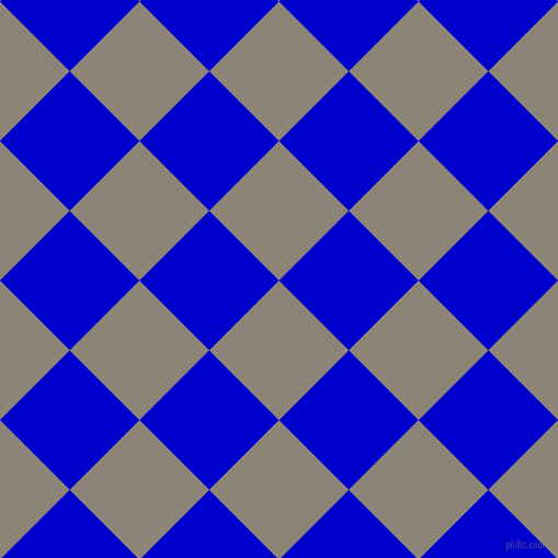 45/135 degree angle diagonal checkered chequered squares checker pattern checkers background, 90 pixel squares size, , Schooner and Medium Blue checkers chequered checkered squares seamless tileable