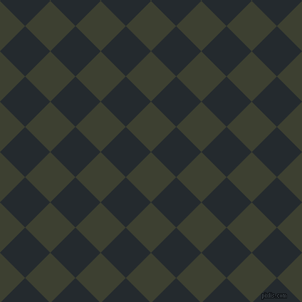 45/135 degree angle diagonal checkered chequered squares checker pattern checkers background, 50 pixel squares size, , Scrub and Cinder checkers chequered checkered squares seamless tileable