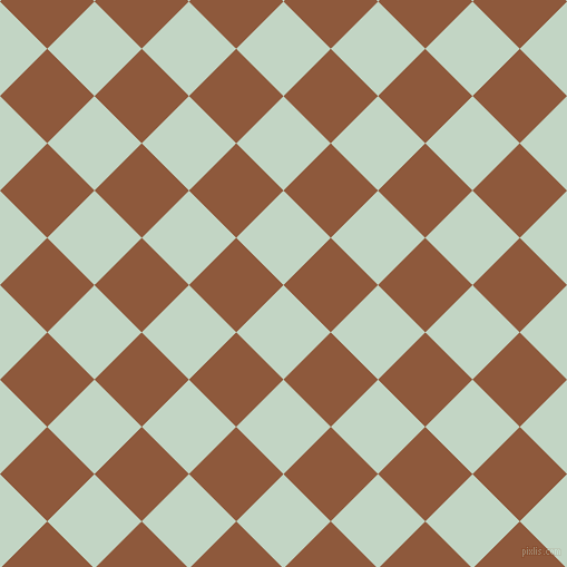 45/135 degree angle diagonal checkered chequered squares checker pattern checkers background, 60 pixel squares size, , Sea Mist and Rope checkers chequered checkered squares seamless tileable