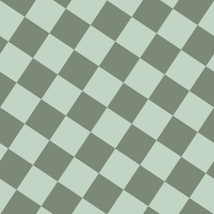 56/146 degree angle diagonal checkered chequered squares checker pattern checkers background, 100 pixel square size, , Sea Mist and Spanish Green checkers chequered checkered squares seamless tileable