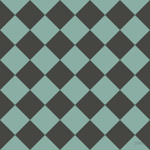 45/135 degree angle diagonal checkered chequered squares checker pattern checkers background, 68 pixel squares size, , Sea Nymph and Tuatara checkers chequered checkered squares seamless tileable