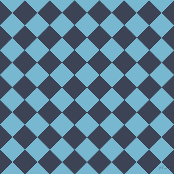 45/135 degree angle diagonal checkered chequered squares checker pattern checkers background, 56 pixel squares size, , Seagull and Blue Zodiac checkers chequered checkered squares seamless tileable