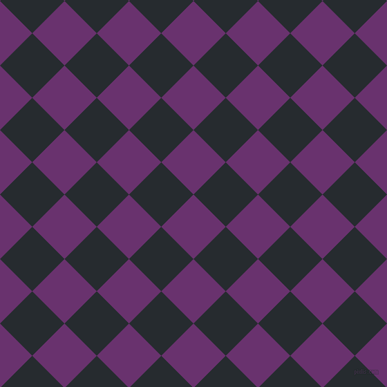 45/135 degree angle diagonal checkered chequered squares checker pattern checkers background, 66 pixel squares size, , Seance and Blue Charcoal checkers chequered checkered squares seamless tileable